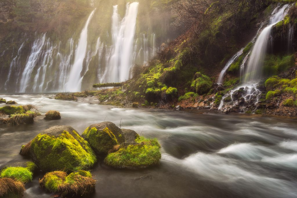 Calming Currents at Burney Falls in Northern California, by Jeremy Vesely Photography