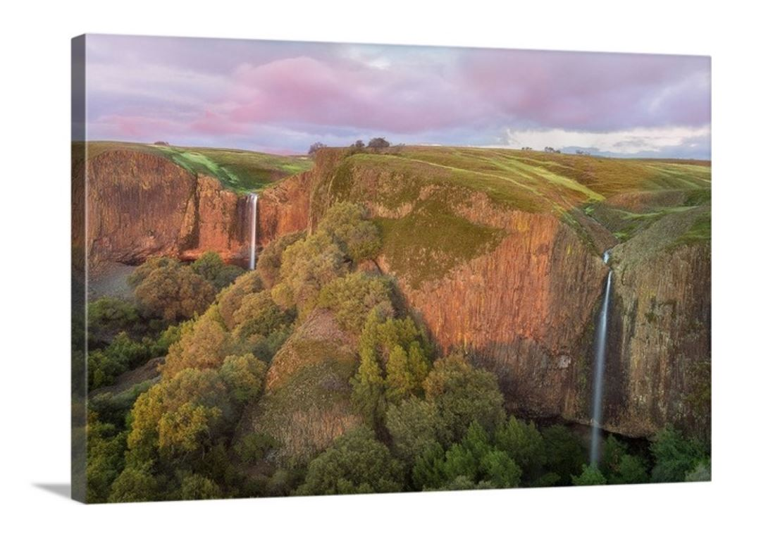 Phantom Falls in Northern California, on a Gallery-Wrapped Canvas, by Jeremy Vesely Photography